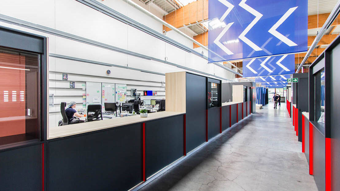 [Translate to Englisch:] FESTEINBAU SHOWROOM/BRANDED OFFICES IN AUGSBURG - GERMAN BIONIC SYSTEMS